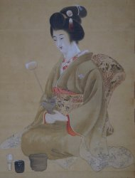 Tea Ceremony painting 1900s